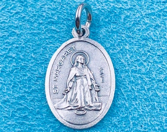 St Margaret Medal Patron of Childbirth & Pregnant Women Antique Reproduction