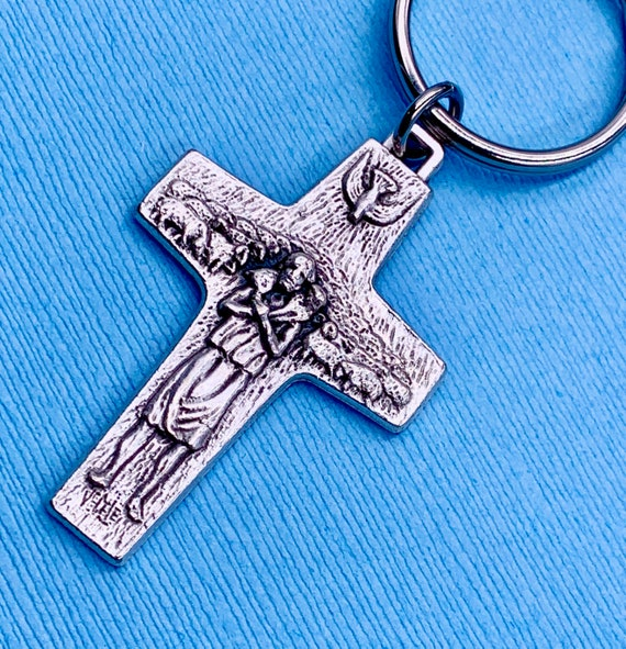 Key Ring Pope Francis Pectoral Cross 5005 Blessed By Pope-Ref Crucifix