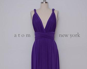 bcc7666ae0ce Royal Purple LONG Floor Length Ball Gown Maxi Infinity Dress Convertible  Formal Multiway Wrap Dress Bridesmaid Dress Evening Dress