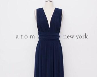 18ddef59f79 Navy Blue LONG Floor Length Ball Gown Maxi Infinity Dress Convertible  Formal Multiway Wrap Dress Bridesmaid Dress Evening Dress Wedding