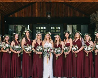 Floor Length LONG Ball Gown Maxi Infinity Dress Convertible Formal Multiway Wrap Bridesmaid Dress Evening Dress Wedding Christmas Party