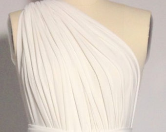 Off White Ivory LONG Floor Length Ball Gown Infinity Dress Convertible Formal Multiway Wrap Dress Bridesmaid Dress Toga Dress Evening Dress