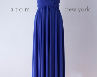 6759d940a0 Royal Blue LONG Floor Length Ball Gown Infinity Dress Convertible Formal  Multiway Wrap Dress Bridesmaid Evening Dress