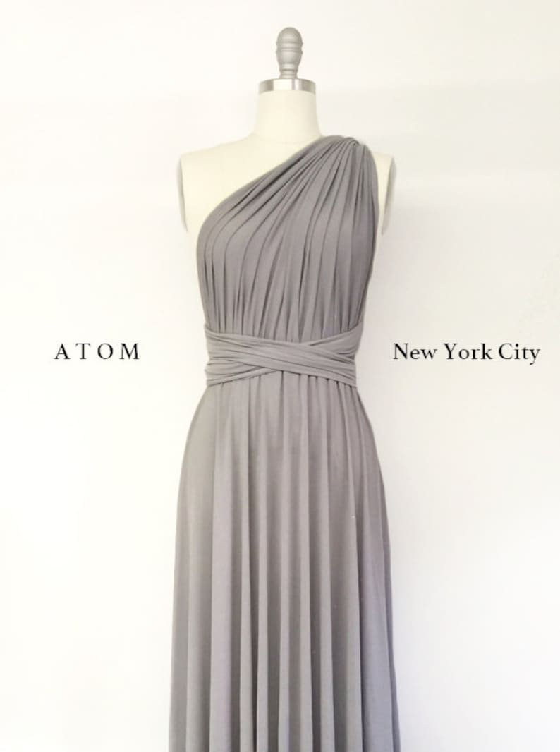 Light Grey Cocktail Dress