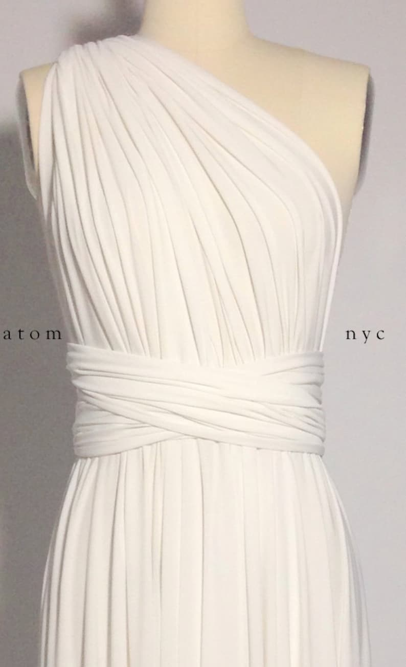3db2f4e1ac Off White Ivory SHORT Infinity Dress Convertible Formal