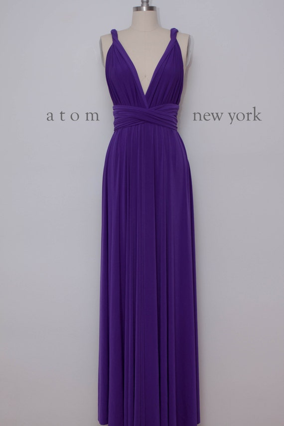 Royal Purple Long Floor Length Ball Gown Maxi Infinity Dress Etsy