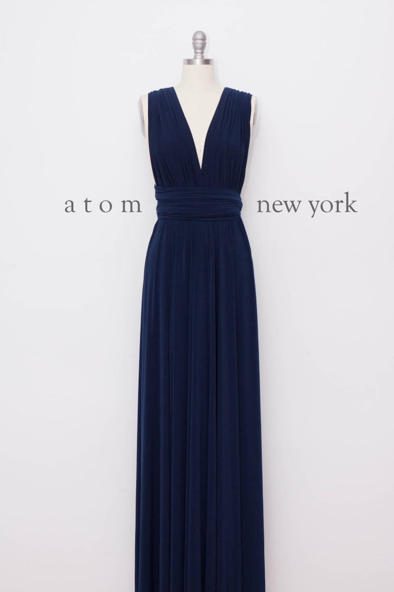 c45b54fb29b Navy Blue LONG Floor Length Ball Gown Maxi Infinity Dress