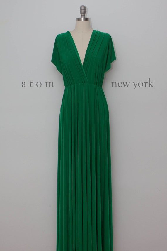 345af47bf23 Emerald Green LONG Floor Length Ball Gown Maxi Infinity Dress