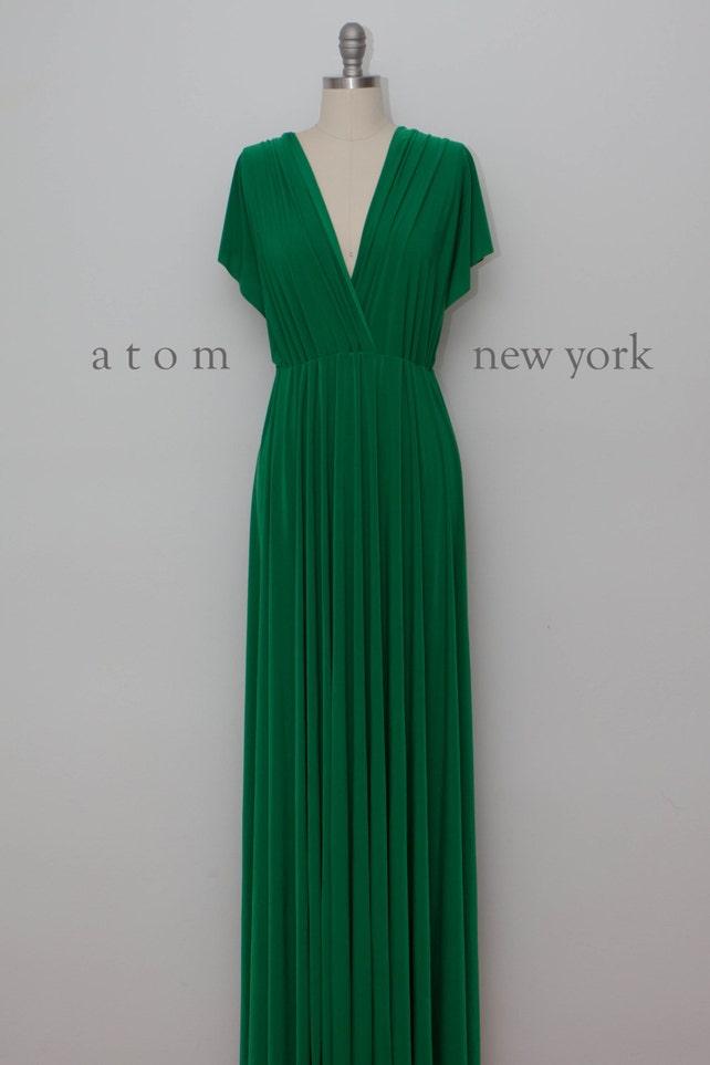 Emerald Green LONG Floor Length Ball Gown Maxi Infinity Dress | Etsy