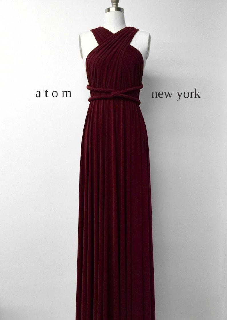 2b101e9b0df7e Burgundy Wine Red LONG Floor Length Ball Gown Infinity Dress   Etsy