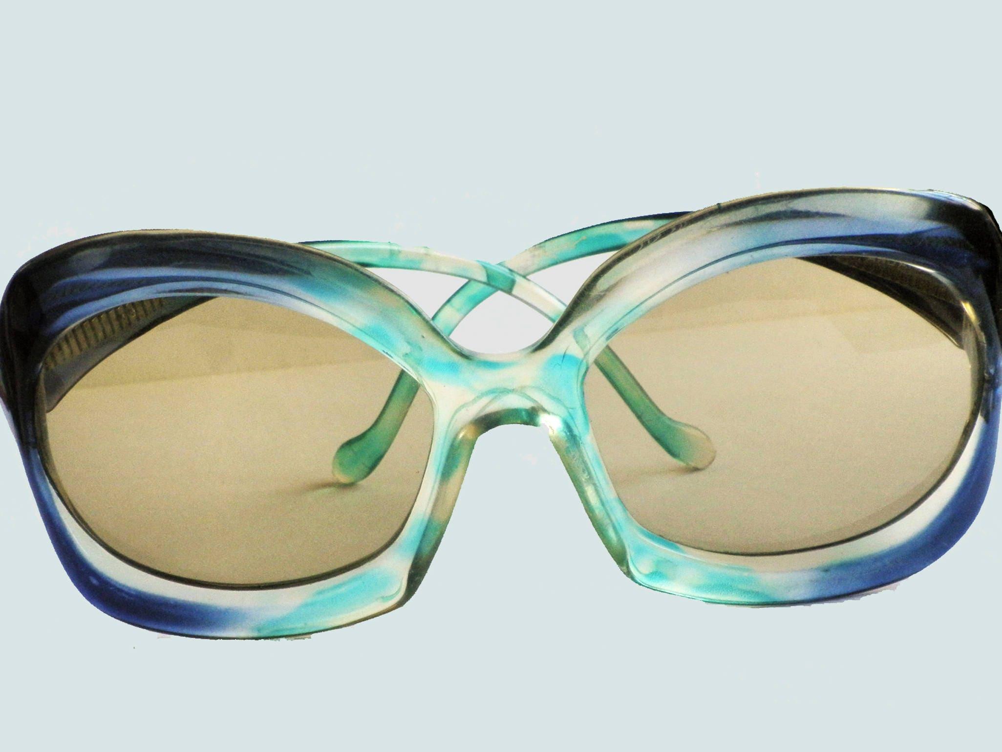 Original Vintage 1970er Jahre übergroße Sonnenbrille GANDAHAR | Etsy