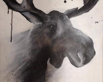 Framed Moose Print