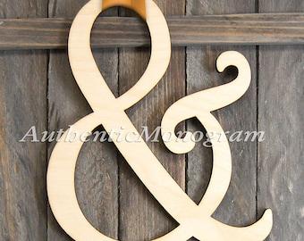 AMPERSAND SIGN - Wooden Ampersand Sign, & Word Sign 1311*