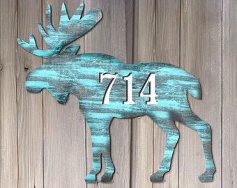 Door Numbers Sign - House Number Plaque - Custom Home Address Sign MA98222