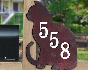 Door Numbers Sign - House Number Plaque - Custom Home Address Sign MA98111