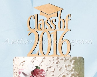 Graduation Cake Topper - CLASS OF 2019  Wooden Cake Topper - Graduation Party