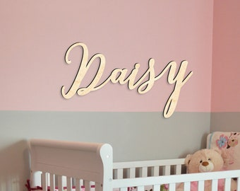 Wooden Name Sign - Nursery name sign - Baby Name Sign  - Custom Wooden Names - Wooden Signs Personalized - Font 3