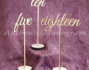 Table Numbers in Sets of 10, Table Top Numbers, Monogram: Home Decor, Wedding Decor Planing, Anniversary, Party Decor 15161