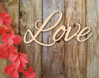 Love Sign - Wooden Love Sign - Love Home Decor - Large love sign - Love wood sign - Font 1