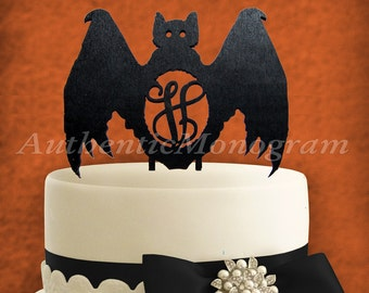 Halloween Cake Decoration - Wooden Unpainted Cake Topper - Party  Trick or Treat - Holiday Decor (4213