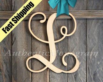 A-Z WOODEN LETTER - Wooden unpainted Monogram, Home Decor, Anniversary, Door Hanger, Birthday, Garden, College