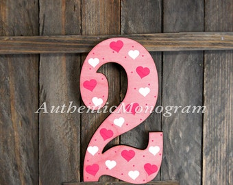 24inch Large Wooden DECORATED Numbers 123. Baby Birthday, Birthday Party Decoration, Home Decor, Door Hanger, Monogram 1512r*