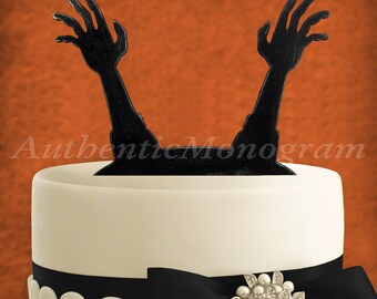 Halloween Cake Decoration - Wooden Unpainted Cake Topper - Party Trick or Treat - Holiday Decor 4213