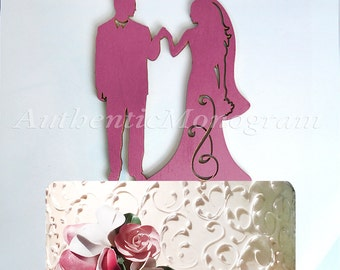 Wedding Cake Topper -  Husband and Wife Silhouette
