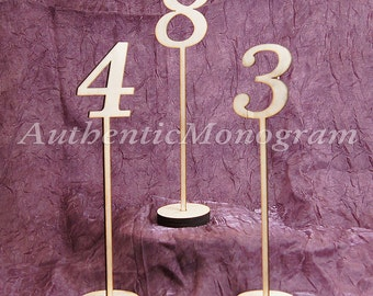"10"" Table Numbers - Wedding Numbers - Wooden Wedding Table Numbers - Wedding Table Decor - Party Table Number Signs  15151"