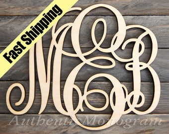 Wooden Letters Wall Decor - WOODEN MONOGRAM Wall Hanging - Decorative Letters - Monogram Wall Letters - Wedding Decor