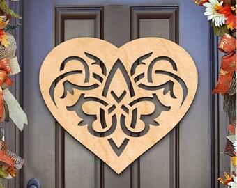 Irish CELTIC HEART Wall Decor And Door Hanger –93166H-20