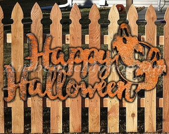 Happy Halloween Sign- Wooden Unpainted  or Painted Home Decor - Party Decor - Trick or Treat - Holiday Decor - Halloween Decoration