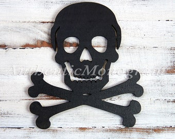 Halloween Skull - Wooden Unpainted  or Painted Home Decor - Party Decor - Trick or Treat - Holiday Decor - Halloween Decoration