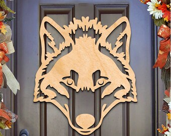 St Patricks day wreath - WOLF CELTIC Wall decor, door hanger, Unfinished Wood, Housewarming Gift – 93165H-20