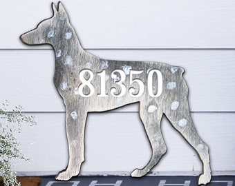 House Number Sign - House Number Plaque - Custom Home Address Sign MA98122S