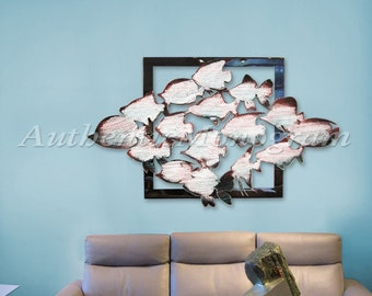 Beach Decor Wall Art AQUATIC FISH Wooden Decorative Wall Art - Coastal decor - Beach decor  G98537SX