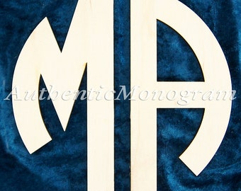 CIRCLE Wooden Monogram 2 letters Unpainted, Wooden, Home Decoration,,Wedding Decor, WallHanging
