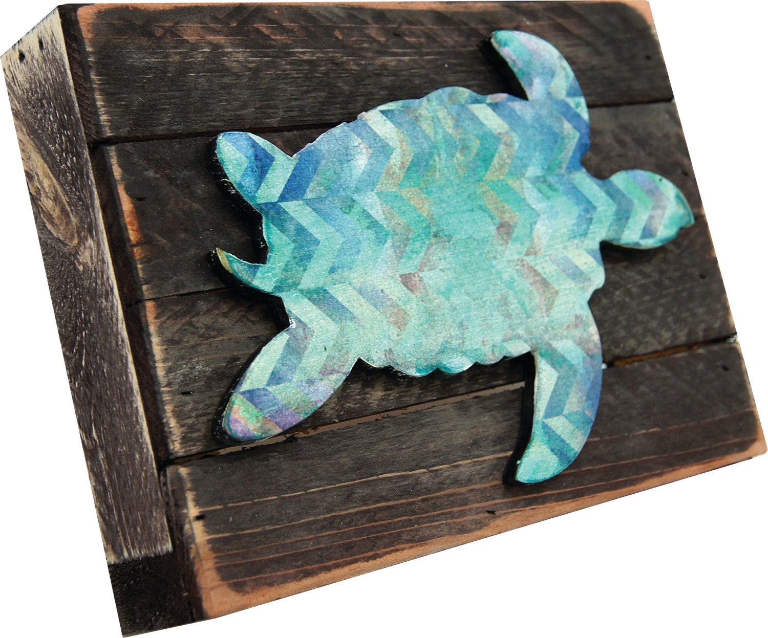 Sea Turtle Wall Art On Rustic Wooden Block Vintage Beach Decoration Home And Garden Decor Wall Hanging Kids Room Decor 98518