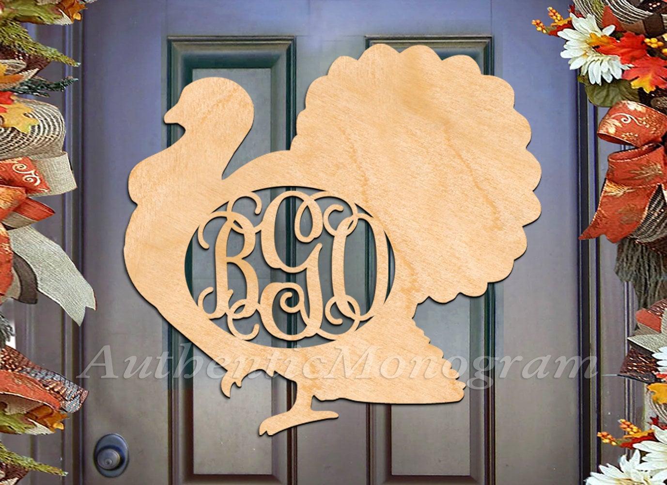 Fall decor Thanksgiving Decorations - Wooden Monogram - Custom ...