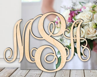 Best Value Large WOODEN MONOGRAM - Laser Cut Wooden monogram wall hanging - Large Monogram wall letters - Personalized Gift - Fall Decor
