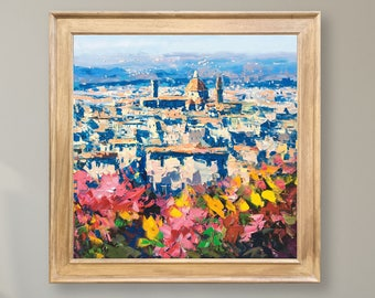 73f1988f4bc Florence Painting on Canvas Italy Painting Cityscape Wall Art Impressionist  Artwork Tuscany Art Modern Wall Decor for Home Framed Gifts