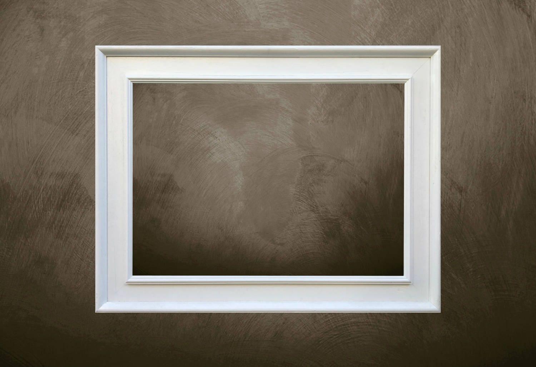 White Wood Frame for Painting on Canvas - Modern Frame - Handmade ...