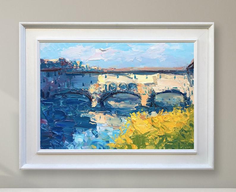 Ponte vecchio florence schilderij op canvas italië schilderij etsy