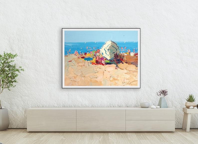 Gift Idea Beach Scene Kitchen Art Print Wall Decor Ocean Wall Art Italy Art Beach Art Seascape Wall Art Canvas Art Wall Art Prints