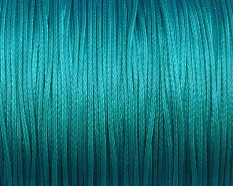 0.5mm Korean waxed polyester cord - #W49 diameter 0.5mm 10 meters dark turquoise