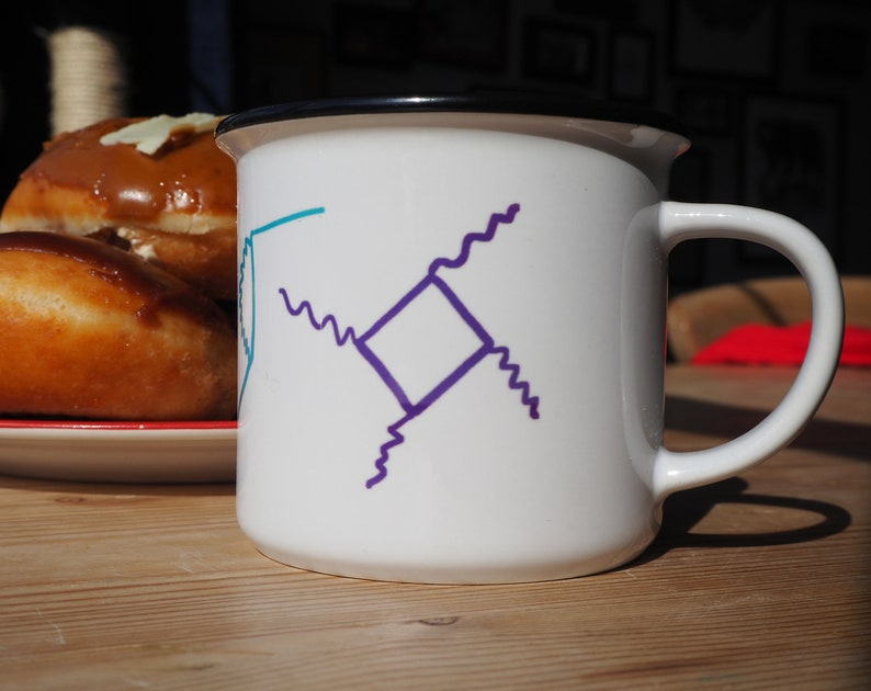 Richard Feynman Diagrams Mug  Physics / Mathematics Gift  image 0