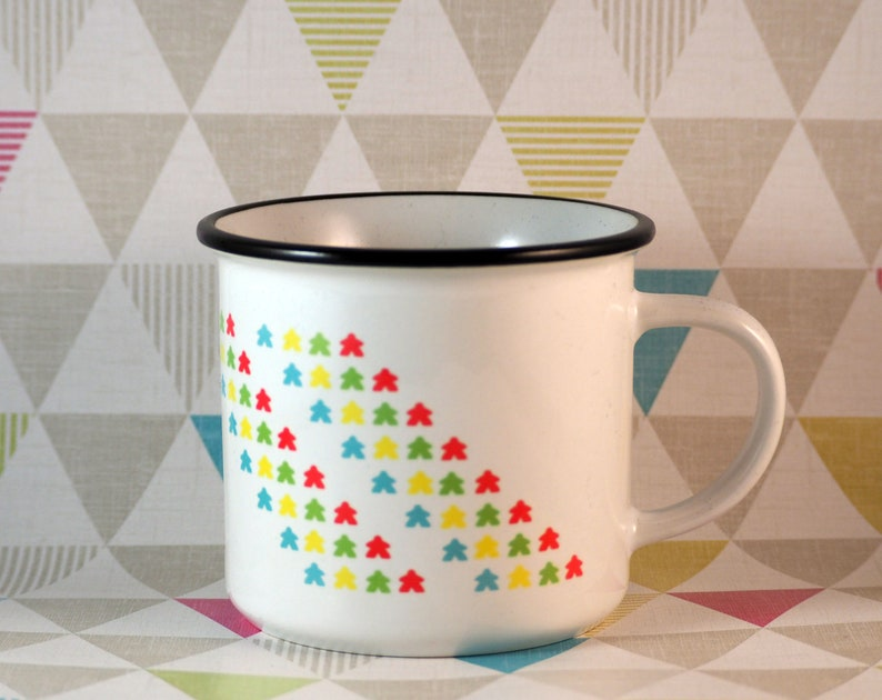 SECONDS  Meeple Ditsy Mug  Gamer Gift image 0