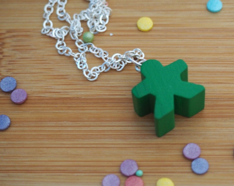 Meeple Necklace  Pendant  Many colours image 0