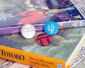 Badge Set 25mm - Studio Ghibli Inspired