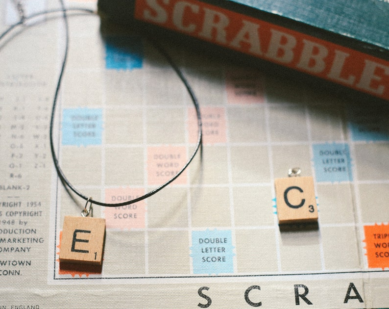 Scrabble Tile Necklace  All Letters  Initial / Personalised image 0